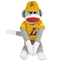 Los Angeles Lakers NBA Plush Uniform Sock Monkey