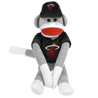 Miami Heat NBA Plush Uniform Sock Monkey
