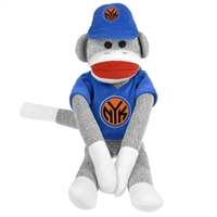 New York Knicks NBA Plush Uniform Sock Monkey