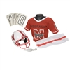 Nebraska Cornhuskers Youth NCAA Deluxe Helmet and Uniform Set (Medium)