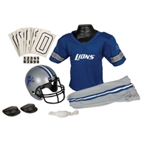 Detroit Lions Youth NFL Deluxe Helmet and Uniform Set (Small)