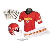 Kansas City Chiefs Youth NFL Deluxe Helmet and Uniform Set (Small)