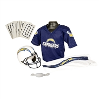 San Diego Chargers Youth NFL Deluxe Helmet and Uniform Set (Small)