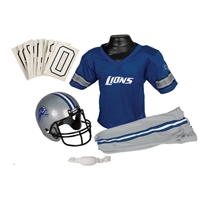 Detroit Lions Youth NFL Deluxe Helmet and Uniform Set (Medium)