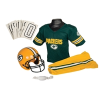 Green Bay Packers Youth NFL Deluxe Helmet and Uniform Set (Medium)