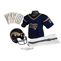 St. Louis Rams Youth NFL Deluxe Helmet and Uniform Set (Medium)
