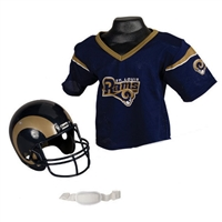 St. Louis Rams Youth NFL Helmet and Jersey Set