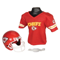 Kansas City Chiefs Youth NFL Helmet and Jersey Set
