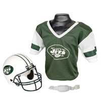 New York Jets Youth NFL Helmet and Jersey Set