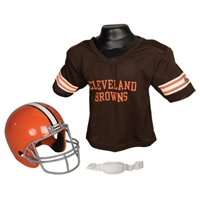 Cleveland Browns Youth NFL Helmet and Jersey Set