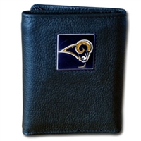 St. Louis Rams NFL Trifold Wallet in a Tin