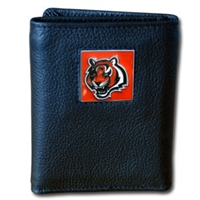 NFL Leather and Nylon Trifold Wallet - Cincinnati Bengals