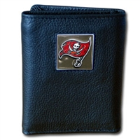 NFL Leather and Nylon Trifold Wallet - Tampa Bay Buccaneers
