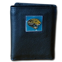 Jacksonville Jaguars NFL Leather and Nylon Trifold