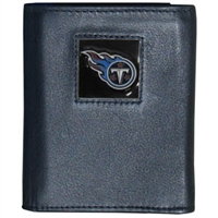 NFL Leather and Nylon Trifold Wallet - Tennessee Titans