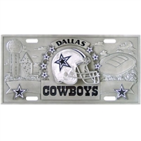 Dallas Cowboys 3D NFL License Plate