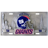 New York Giants 3D NFL License Plate