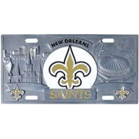 New Orleans Saints 3D NFL License Plate