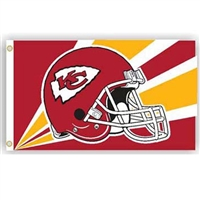 Kansas City Chiefs NFL Helmet Design 3'x5' Banner Flag