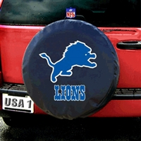Detroit Lions NFL Spare Tire Cover (Black)