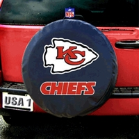 Kansas City Chiefs NFL Spare Tire Cover (Black)