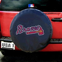 Atlanta Braves MLB Spare Tire Cover (Black)