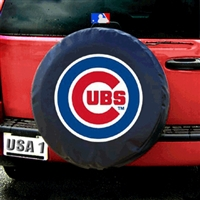 Chicago Cubs MLB Spare Tire Cover (Black)