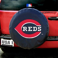 Cincinnati Reds MLB Spare Tire Cover (Black)
