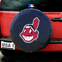 Cleveland Indians MLB Spare Tire Cover (Black)