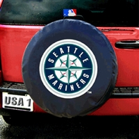 Seattle Mariners MLB Spare Tire Cover (Black)