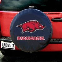 Arkansas Razorbacks NCAA Spare Tire Cover (Black)