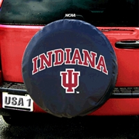 Indiana Hoosiers NCAA Spare Tire Cover (Black)