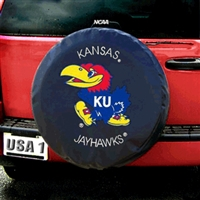 Kansas Jayhawks NCAA Spare Tire Cover (Black)