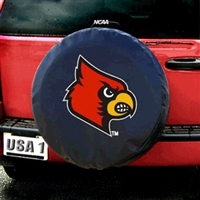 Louisville Cardinals NCAA Spare Tire Cover (Black)