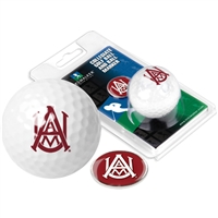 Alabama A&M University Golf Ball w/ Ball Marker
