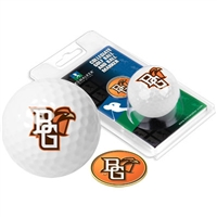 Bowling Green Falcons Golf Ball w/ Ball Marker