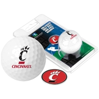 Cincinnati Bearcats Golf Ball w/ Ball Marker