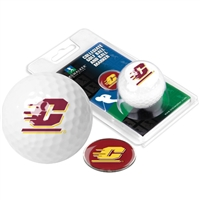 Central Michigan Chippewas Golf Ball w/ Ball Marker