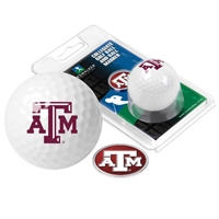 Texas A&M Aggies Golf Ball w/ Ball Marker