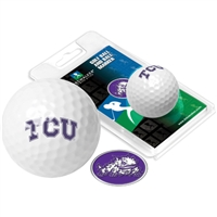 Texas Christian Horned Frogs TCU Golf Ball w/ Ball Marker