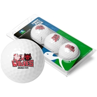Arkansas State Red Wolves 3 Golf Ball Sleeve Pack