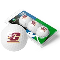 Central Michigan Chippewas 3 Golf Ball Sleeve Pack