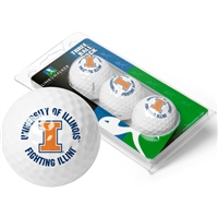 Illinois Fighting Illini 3 Golf Ball Sleeve Pack