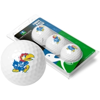 Kansas Jayhawks 3 Golf Ball Sleeve Pack