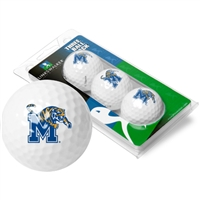 Memphis Tigers 3 Golf Ball Sleeve Pack
