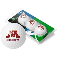 Minnesota Golden Gophers 3 Golf Ball Sleeve Pack