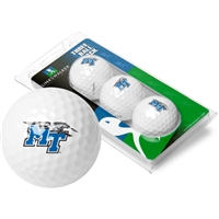 Middle Tennessee State Blue Raiders 3 Golf Ball Sleeve Pack