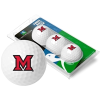 Miami Ohio Redhawks 3 Golf Ball Sleeve Pack