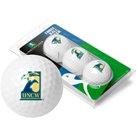 North Carolina Wilmington Seahawks 3 Golf Ball Sleeve Pack