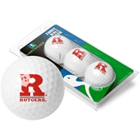 Rutgers Scarlet Knights 3 Golf Ball Sleeve Pack
